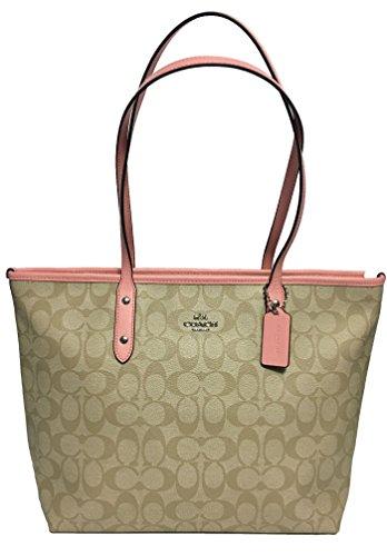Coach Signature City Zip Tote Bag Handbag (Light ()