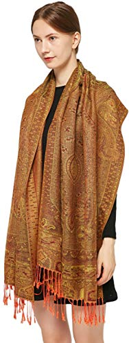 Copper Paisley (Ted and Jack - Luxe Classic Paisley Reversible Pashmina (Copper))