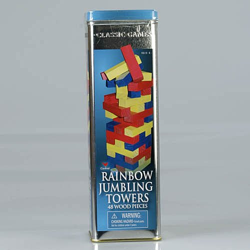 Rainbow Jumbling Towers Wood Pieces