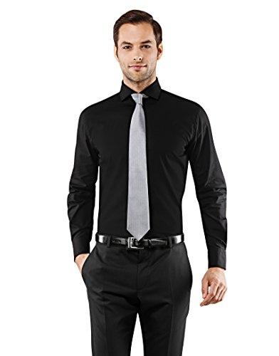 Vincenzo Boretti Men's Shirt Slim-fit Fitted Shark Collar Classic Design...