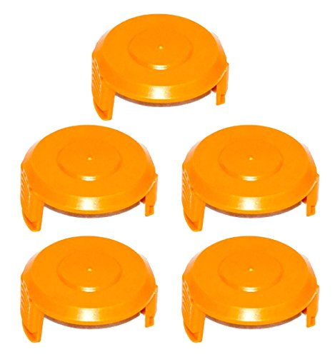WORX WA6531 GT Trimmer Replacement Spool Cap Covers (5 Pack)