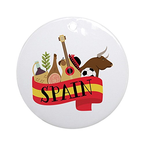 CafePress Spain 1 Ornament (Round) Round Holiday Christmas ()