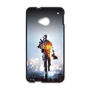 HTC One M7 Cell Phone Case Black_Battle Filed Premium Game Art Illust TR2482847