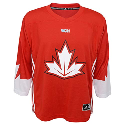 (adidas Team Canada 2016 World Cup of Hockey Youth Red Replica Jersey (Youth (L/XL)))
