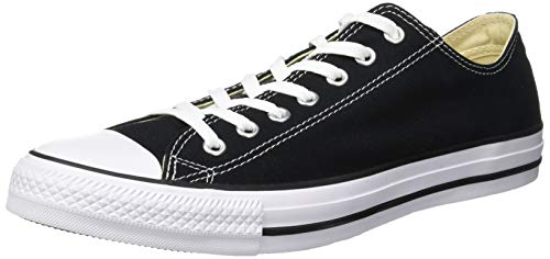 (Converse M9166- Chuck Taylor All Star Unisex Ox Low Top Black Sneakers, 10 Women/8 Men)