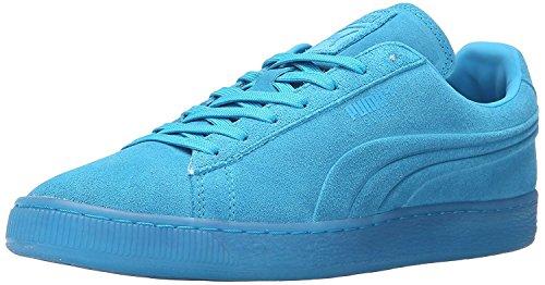 Puma Mens Suede Emboss Iced Fluo Fashion Sneaker, Azul at?mico, 45 D(M) EU/10.5 D(M) UK