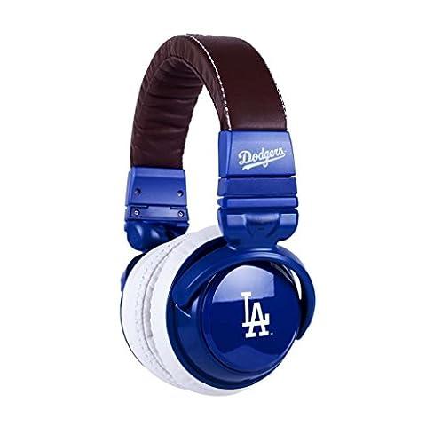 BiGR Audio xlmlblad1 MLB Licensed Los Angeles Dodgers Plastic Headphones (Discontinued by (Bigr Audio Cable)
