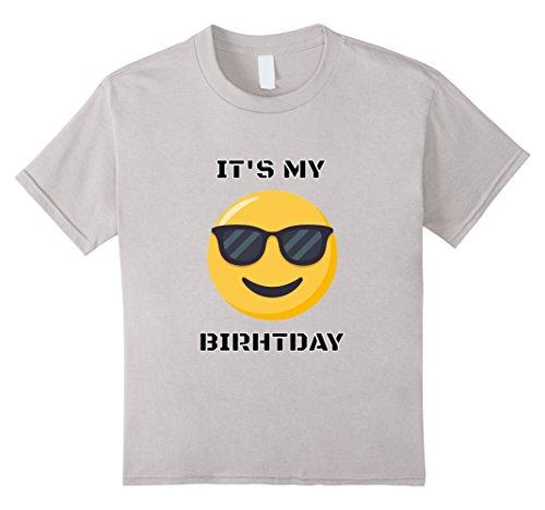 Kids Its My Birthday Sunglasses Emoji Christmas Birthday Tshirt 10 Silver
