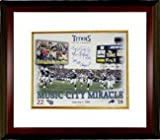 Athlon CTBL-MW11930 Music City Miracle Signed Tennessee Titans 16 x 20 Photo with Music City Miracle & 99 AFC Champs Custom Framed with Kevin Dyson sig