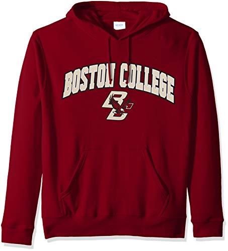 Elite Fan Shop NCAA Men's Boston College Eagles Hoodie Sweatshirt Team Color Arch Boston College Eagles Maroon X -