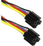 AERZETIX 2 fiches faisceau connecteurs câble pour relais auto 4/5 pins 12V/24V