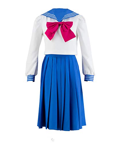 OURCOSPLAY Women's Sailor Moon Tsukino Usagi Mercury Cosplay Costume 4 Pcs Set (Women M)