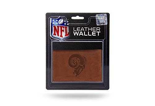 NFL Los Angeles Rams Leather Trifold Wallet with Man Made Interior by Rico