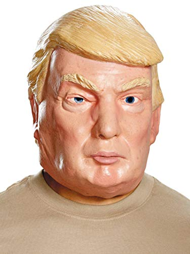 Clinton Halloween Costume (Disguise Men's Donald Trump Deluxe Mask, Multi, One)