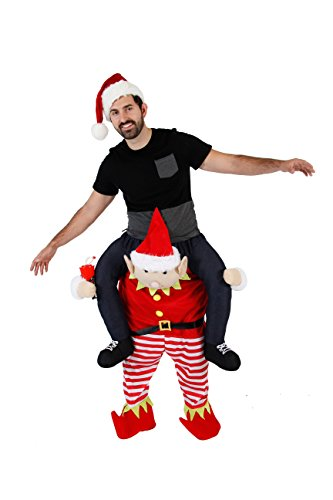 Christmas Piggyback Ride On Tipsy Elf Costume (Standard)