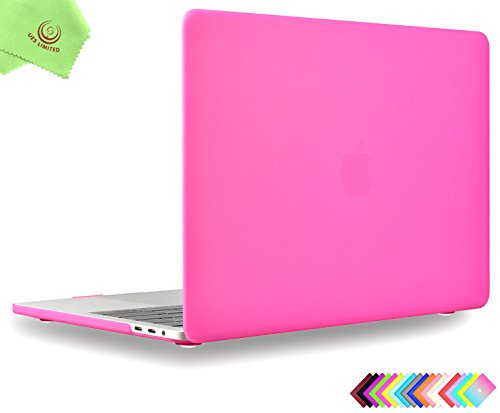 MacBook Pro 13 inch Case 2018 & 2017 & 2016 Release, Model A1989/A1706/A1708, UESWILL Matte Hard Case Cover for MacBook Pro 13 inch (USB-C) with/Without Touch Bar Touch ID, Hot Pink