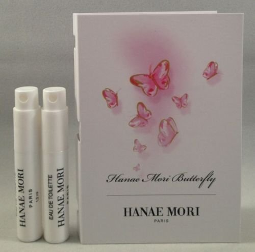Women Edt Spray Vial (2 Hanae Mori Butterfly EDT Spray Sample Perfume Travel Vial .04 Oz/ 1.2 Ml Each Lot)