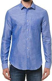 Camisa social Slim simples Calvin Klein Masculino