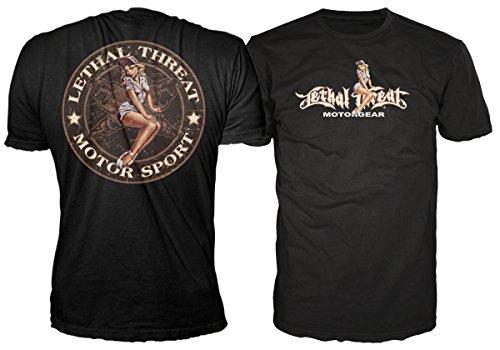 t-shirt hardcore men's - Spark plug Pin Up - LETHAL THREAT - LT20147 M