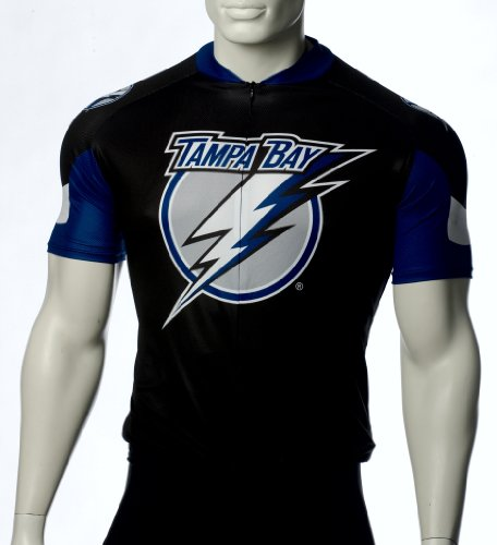 NHL Tampa Bay Lightning Men's Cycling Jersey, Black, X-Small (Tampa Bay Cycling)