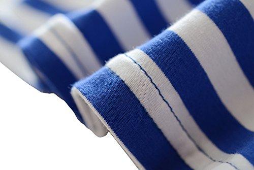 shirt T Il Banda Vestito Bowknot Della Con Delle Ragazze Marina Della M2c Estate 1pqzB0