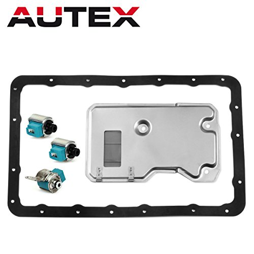 (AUTEX A340E A340F A340G A340H Transmission Shift LockUp TCC Solenoid Filter Gasket Kit (Set of 5) Compatible With Toyota Lexus 1985-UP)