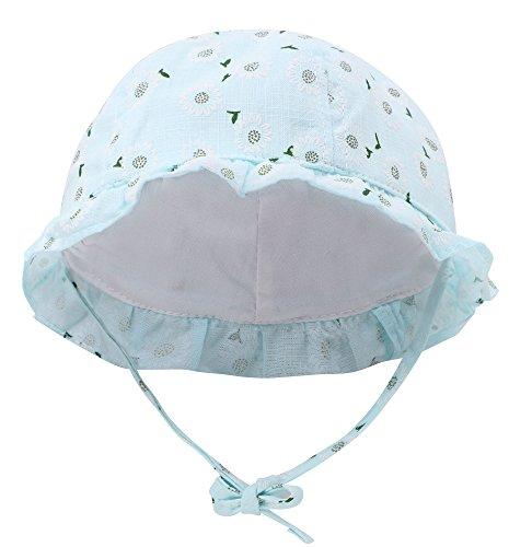 Hemantal Baby Sun Protection Hat Girls Cotton Floppy