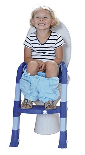 Kiddyloo Toilet Seat Reducer (Blue/ Light Blue) - Toddler Potty Training Seat by Thermobaby