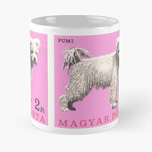 Terrier Postage Stamp - Pumi - Morning Coffee Mug Ceramic Novelty Holiday