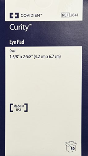 Box of 50 Curity Eye Dressing Pad Ovl Sterile Box of 50 KENDALL HEALTHCARE PROD. 2841 (Eye Sterile Pads)