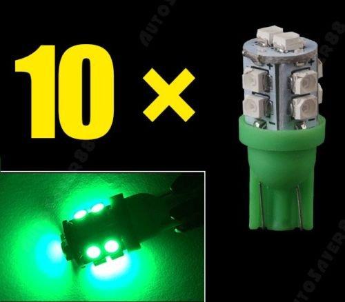 Focuslife 10X Vivid Green Wedge T10 10-SMD 168 194 2825 175 LED License Plate Lights ()