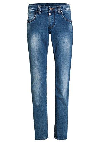 Eduardo 3151 Hombre Vaqueros Wash Blue Azul Timezone Slim para Bright zpqdx7w