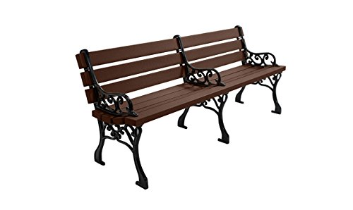 Kirby Built Products 6' Recycled Plastic Classic Park Bench - Brown
