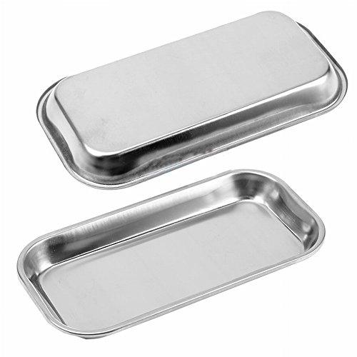 Gracefulvara Stainless Steel Dental Medical Tray Lab Instrument Tool