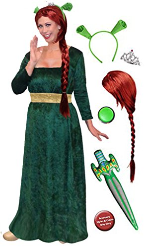 Sanctuarie Designs Women's Princess Fiona Shrek/Deluxe/Plus Size Supersize Halloween Kit/2x/Green/