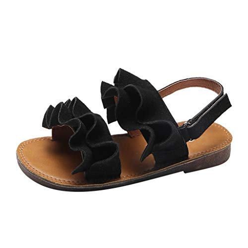 Lurryly Sandals for Girls White Size 11,Sandals for Girls 4,Sneakers for Girls Size 10,Slippers for Girls Size 13 for Summer,Rain Boots for Girls Size 9 Toddler,Black,Recommended Age:2-2.5Years,US:8C ()