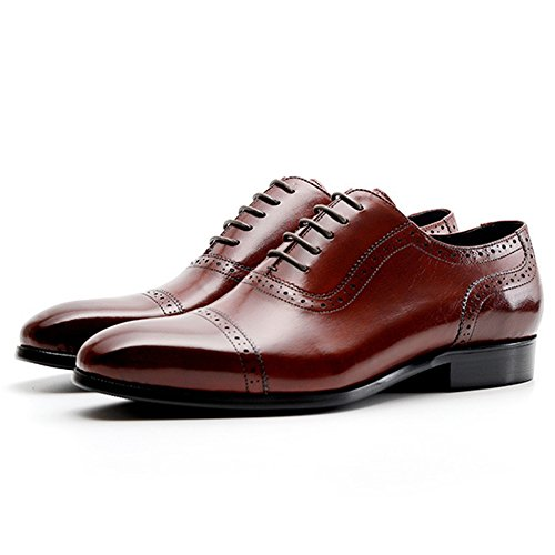 Uomo Da Classic Uomo Cocktail Scarpe Scarpe Party Per Reception Casual Uomo Red Business Estive Oxford Brogue XwdxFqz