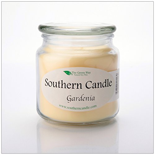 Gardenia 16oz Decorator Jar Natural Soy Wax Candle
