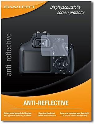 SWIDO® Protector de Pantalla para Canon EOS 4000D [Anti-Reflex ...