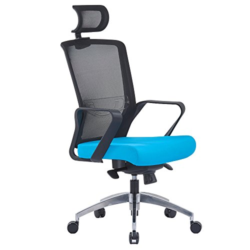 Lscing High Back Mesh Office Chair With Swivel Aluminum