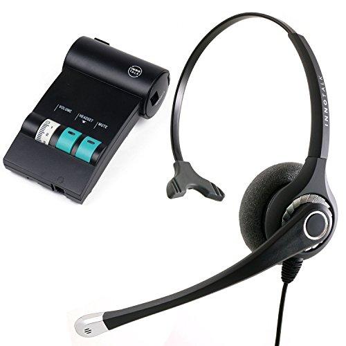 Avaya Lucent ATT Partner phone T7316, T7316e, MLS-12 Headset and Amplifier - Sound Emphasis Pro Monaural Office Noise Cancel Headset (Headset Amplifier Gn Netcom)