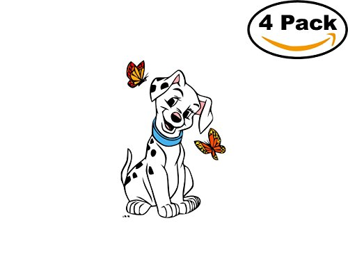 101 Dalmatians 4 Stickers 4x4 Cartoon Car Bumper Window Sticker Decal_25