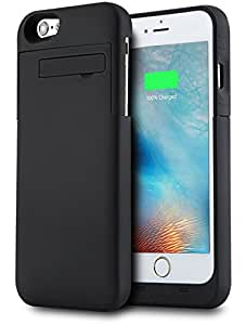 """iPhone 6 / 6s 4.7"""" Backup Battery Case - PEMOTech® 3200mAh External Backup Power Bank Battery Charger Case Cover with Kickstand (Ios 8 Compatible) For iPhone 6 / 6s 4.7""""- BLACK, [Importado de UK]"""