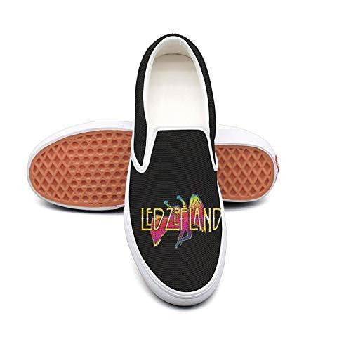 Authentic Pearl Jam - Dolorexri Led-Zeppelin-Logo- Womens Canvas Slip-on Fashion Sneaker Skate Shoe