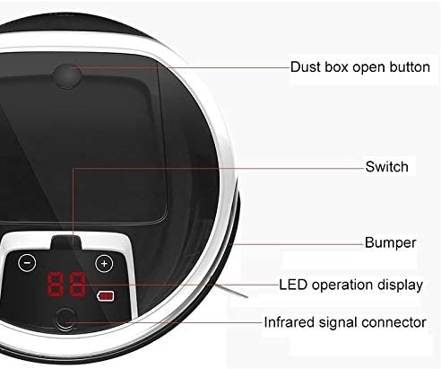 45532rr Aspirateur Robot Nettoyer 1000Pa Grande Aspiration Intelligente des ménages