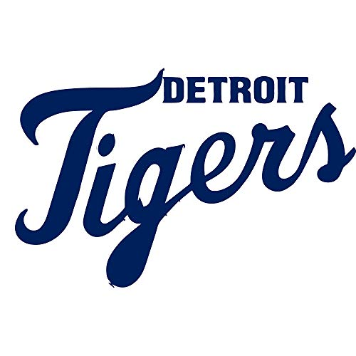 Detroit Tigers Logos - NBFU DECALS MLB Detroit Tigers Logo 3 (Navy Blue) (Set of 2) Premium Waterproof Vinyl Decal Stickers for Laptop Phone Accessory Helmet CAR Window Bumper Mug Tuber Cup Door Wall Decoration