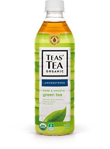 Teas' Tea Unsweetened Pure Green Tea 16.9 Ounce (Pack of 12) Organic Zero Calories No Sugars No Artificial Sweeteners Antioxidant Rich High in Vitamin C