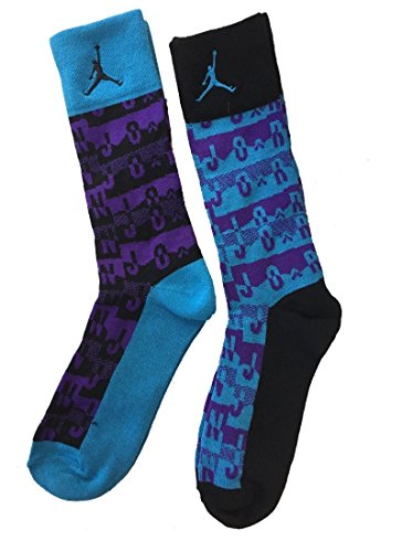NIKE Kids' Air Jordan Retro 2-Pack Crew Socks Shoe Size 10C-3Y/5-7 (Sock Size) by NIKE