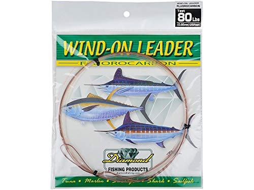 Melton Tackle Diamond Fluorocarbon Wind-On Leader - 90 lb.