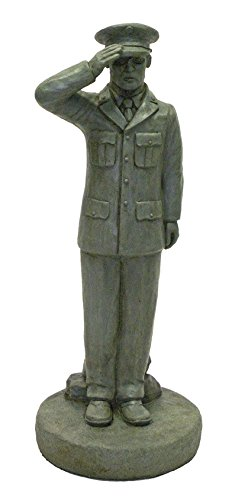 (Solid Rock Stoneworks Standing Saluting Soldier in Class A Dress 24